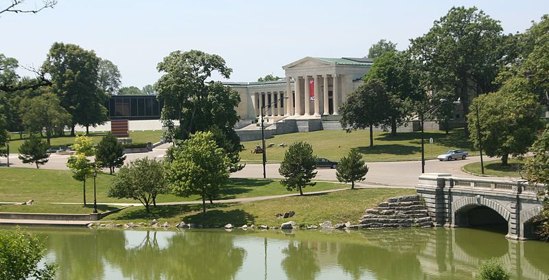 Albright-Knox Art Gallery, rear, overlooking the lake in Delaware Park