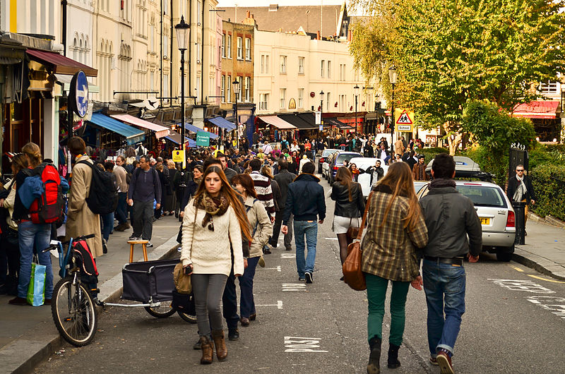 Home of the famous antique market in Notting Hill, London