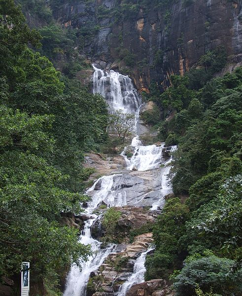 The Ravana Falls located in Ella