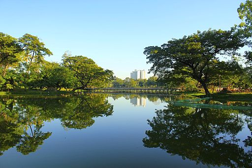 "Kandawgyi Lake Yangon | Image Credit: <a href=""https://commons.wikimedia.org/wiki/User:Tayzar44"">Htoo Tay Zar</a>, <a href=""https://commons.wikimedia.org/wiki/File:Yangon_Kandawgyi_Lake.jpeg"">Yangon Kandawgyi Lake</a>, <a href=""https://creativecommons.org/licenses/by-sa/3.0/legalcode"" rel=""license"">CC BY-SA 3.0</a>"