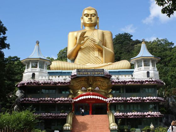 The Golden Cave Temple | Image Credit: Julie Anne Workman, Golden Buddha and Buddhist Museum at Dambulla, CC BY-SA 3.0