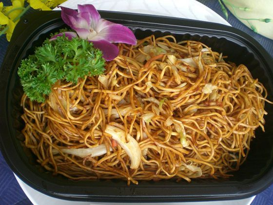 Noodles   Image Credit: Hoitintungs, HK Arena Sunday AsiaWorld Expo Food Soy Sauce Fried Noodles 豉油皇炒麵, CC BY-SA 3.0