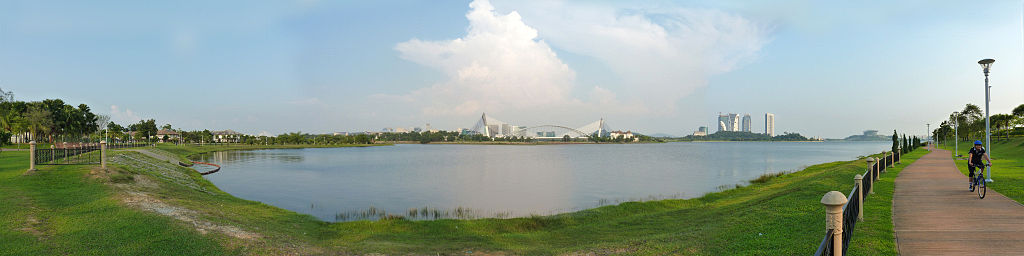 "Cyberjaya Lake Gardens | Image Credit: <a href=""https://commons.wikimedia.org/wiki/User:Cmglee"">Cmglee</a>, <a href=""https://commons.wikimedia.org/wiki/File:Cyberjaya_Lake_Gardens_panorama.jpg"">Cyberjaya Lake Gardens panorama</a>, <a href=""https://creativecommons.org/licenses/by-sa/3.0/legalcode"" rel=""license"">CC BY-SA 3.0</a>"