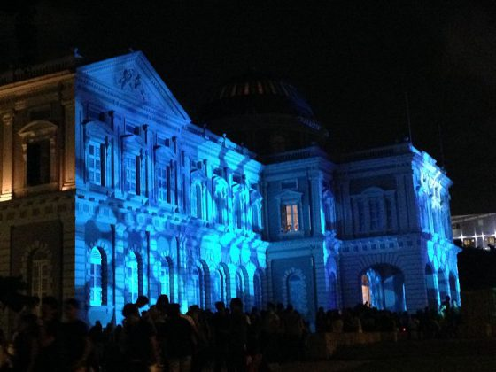 National Museum of Singapore during the Singapore Night Festival   Image Credit - Smuconlaw, CC BY-SA 4.0 Via Wikimedia Commons