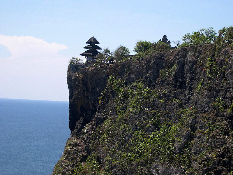 Uluwatu Temple Cliff, Bali | Image Credit - Ken Eckert, CC BY-SA 4.0 Via Wikimedia Commons